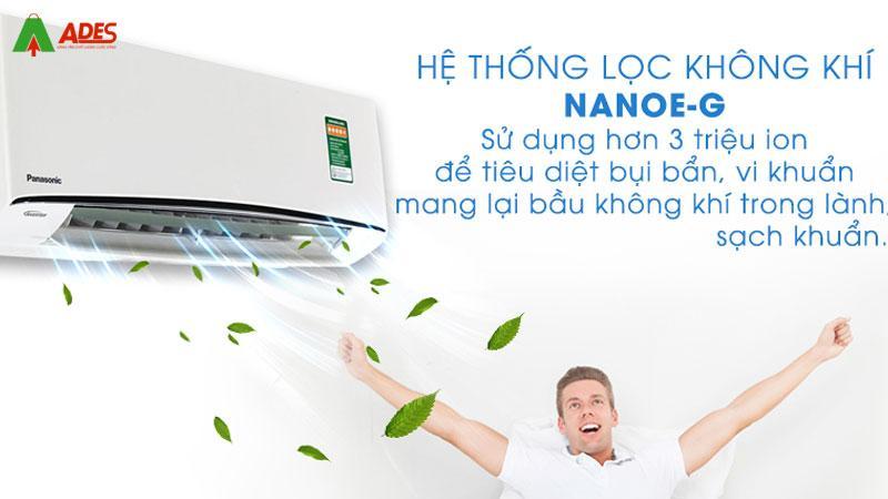 Cong nghe Nanoe-G giup loai bo bui ban hieu qua