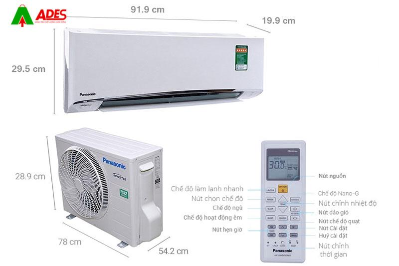 Dieu hoa Panasonic Inverter 1 HP CU/CS-U9TKH-8