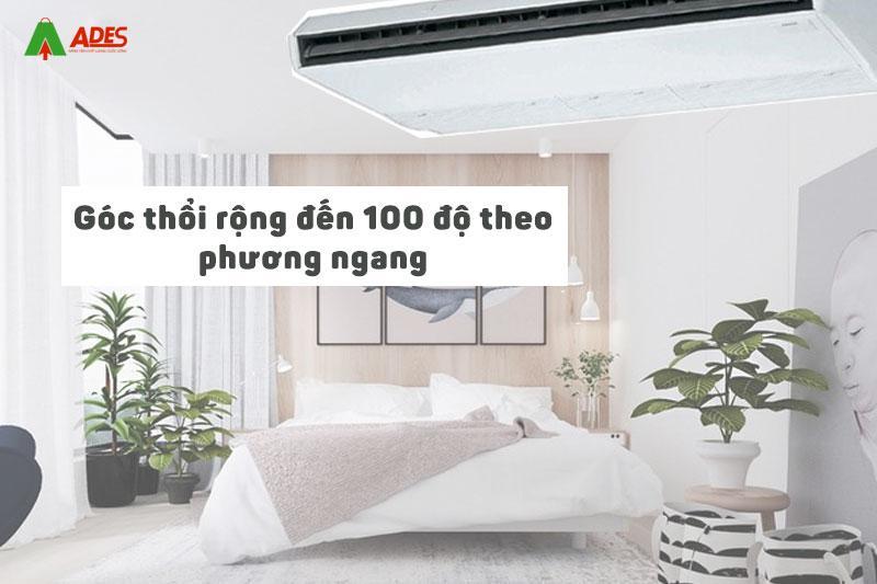 Goc thoi rong den 100 do theo phuong ngang