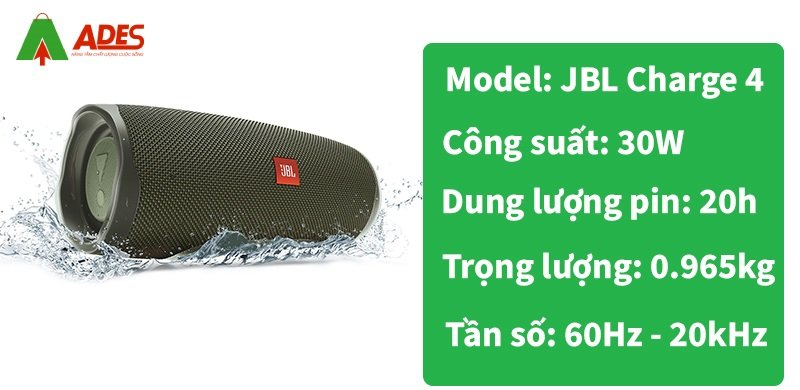 thong so ky thuat loa Bluetooth JBL Charge 4